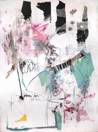 """""""Joël, pensées du soir"""" 110/90cm, 2009"""