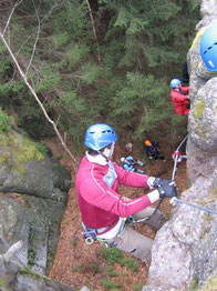 Walter Keiderling Klettersteig in Erlabrunn bei Johannstadt