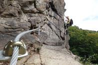 Klettersteig Wolkensteiner Hag und Wolfspfad