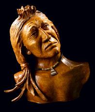 Sculpture terre patinée - Ethnique - indien