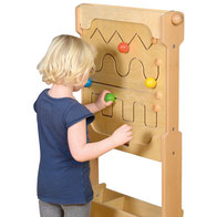 Élément mural pédagogique les 4 zig-zag. Matériel pédagogiques pour apprendre la motricité aux enfants. Matériel à acheter pas cher du tout!