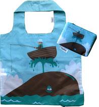 Chilino Bag Tasche Fischer Meer Wal Boot Wasser, blau