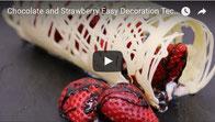 Chocolate & Strawberry,chocolate,strawberries,chocolate decoration,white chocolate,pastry,chocolate dessert,chocolate technique,easy chocolate decoration,