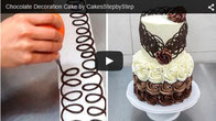 chocolate decoration,beautiful cake,amazing cake,stunning cake,buttercream cake,chocolate frosting,cake decorating,cake video,cake tutorial,chocolate technique,buttercream roses,