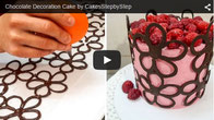 decorating with chocolate,chocolate,chocolate technique,chocolate basket,chocolate cage,how to decorate with chocolate,cakes,