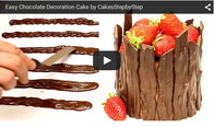 how to temper chocolate,chocolate cake,cake chocolate,decorar con chocolate,cake decorating,strawberry cake,