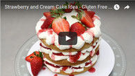 strawberry and cream cake, easy cake,strawberry cake,gluten free,cake no gluten,