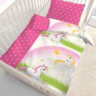 Einhorn Baby Bettwäsche