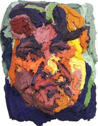 "Anton PETZ, ""Peter Turini"", Acryl / Leinwand, 25x25x15cm"