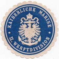 Siegelmarke der II. Werftdivision