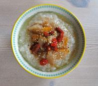 Reis Congee entschlacken gesund Rezept Frühstück Entlastungstage