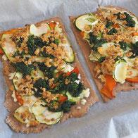 vollwertiger Flammkuchen mit Gemüse Rezept