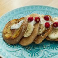 Pancakes vegan Rezept Frühstück Dessert