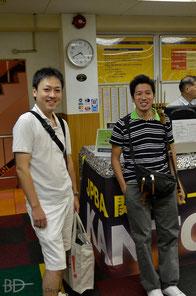 写真3 左から、村山さん・榊原選手