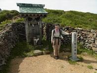 別山山頂の別山神社参拝後