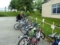 Fahrrad parken...