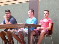 Unsere 3 Schülersprecher im Schuljahr 2012/2013