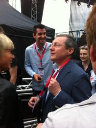 Avec Marhieu Johann-Lepresle et Brigitte Boisgerault, conseillers départementaux