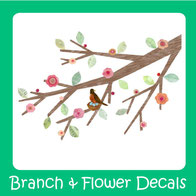 wall decals-branch-flowers-wall stickers