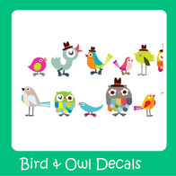 wall decals-wall stickers-birds-owls