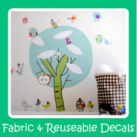 fabric wall decals-fabric wall stickers