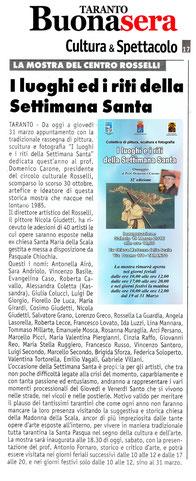 Articolo di Taranto Buonasera del 19 marzo 2016