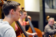 Probe mit dem Sinfonieorchester Aachen