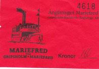 Unser Dampfer Billet nach Mariefred