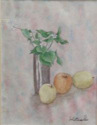 ドクダミ&リンゴ 水彩6号