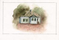 Пейзаж родного дома писателя Антона Павловича Чехова в Таганроге.