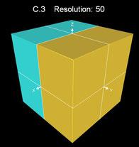 3D Würfel mit Methode C.1 und hoher Auflösung