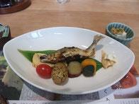 アユ料理のランチ