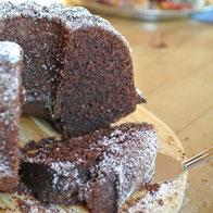 Schokoladen-Nuss-Kuchen oder Muffins