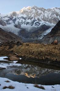 一刻の解氷池(ネパール、アンナプルナ) (全紙)
