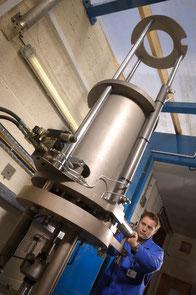 Hochdruck-Wasserstoff-Prüfstand am TWI