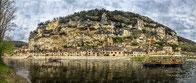 périgord noir dordogne tourisme panoramique bateau gabarre troglodyte maison eau rivière fleuve paysage colline, montagne,