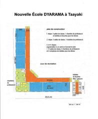 Plan für Schulhausbau der DYARAMA SCHULE Taayaki