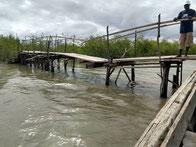 Sturmschaden an der Brücke