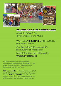 Flohmarkt in Kempraten am 17.6.17 zugunsten des Schulhausbaus