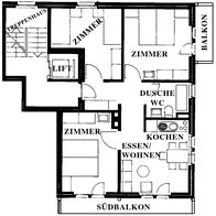 Plan d'appartement no. 1