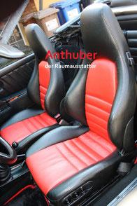Bild: Porsche Autositze mit Leder neu bezogen