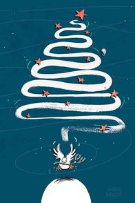 Friedenstaube mit Mistelzweig Weihnachtsbaum – Judith Ganter Illustration bei Redbubble