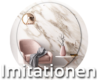Steinimitation - Wandgestaltung - gemalte Steine