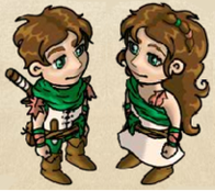 Druiden-/ Druidinnenfrisur