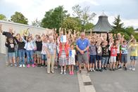 Großer Jubel bei den Schülern und dem LBV, Foto: Otto Grünewald