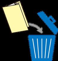 マスクをゴミ箱に捨てる際に保護しながら捨てる例