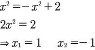 Erster Schritt ist die Berechnung beider Schnittpunkte der Funktionen.