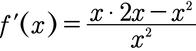 Beispiel für die Anwendung der Quotientenregel beim Ableiten