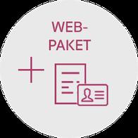 Starter-Paket für Homepage, Visitenkarten und Briefpapier der Web-Manu-Faktur München nur 1.499 €