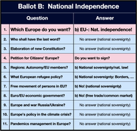 Image: Ballot B - Brexit, all shall benefit!